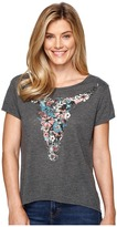 Roper 0891 Poly Cotton Heather Jersey Tee Women's T Shirt