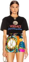 Versace Logo Tee in Black | FWRD