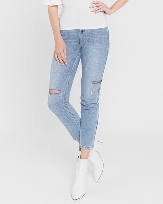 Express English Factory High Waisted Cut-Out Mom Jeans