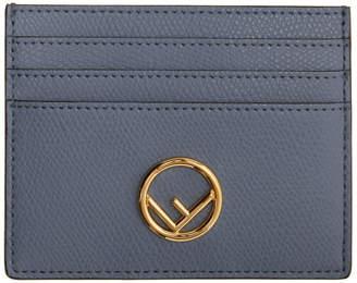 Fendi Blue F Is Card Holder