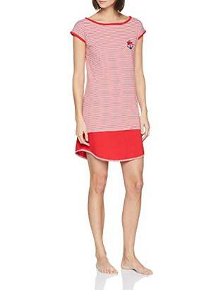 Lovable Women's Stripes Anchor Nightie,10 (Size: Small)