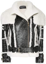 Balmain belted biker jacket