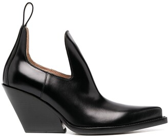 Bottega Veneta Cut-Out Detail Pointed-Toe Boots