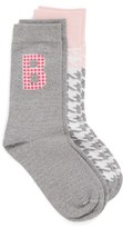 Nordstrom Initial Crew Socks (2-Pack) (Women)