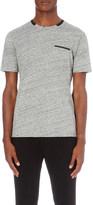 The Kooples Contrast-trim cotton-jersey t-shirt