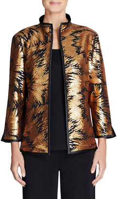 Misook Golden Sequin and Sheer Jacket