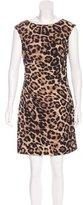 David Meister Leopard Print Sheath Dress