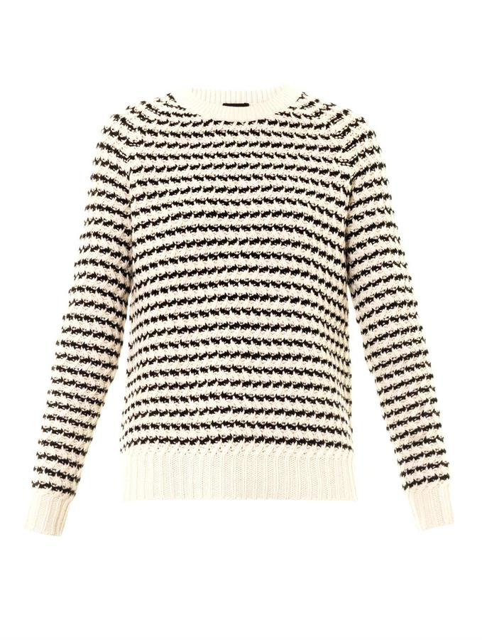 Theory Striped crew-neck sweater