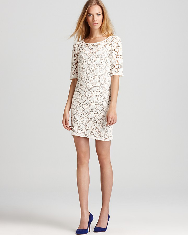 Velvet by Graham & Spencer Lily Aldridge for Velvet Dress - Crochet Lace