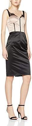 Elise Ryan Women's Panelled Corset with Eyelash Lace Pencil|#253 Plain Sleeveless Dress,6