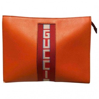 Gucci Orange Leather Small bags, wallets & cases