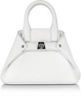 Akris White Leather Micro Ai Crossbody Bag