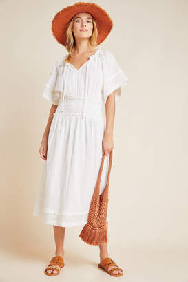 Steele Helen Ruffled Midi Dress
