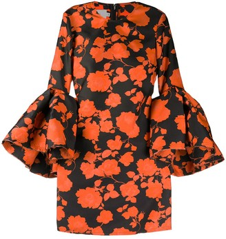 Marques Almeida Distressed Floral-Print Dress