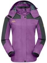 Wantdo Women's Hooded Outerwear Hiking Wind Shell Jacket Rain Coat in