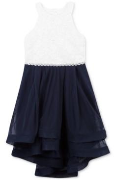 Speechless Little Girls Jeweled Waist Dress
