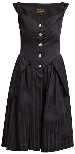 Vivienne Westwood Saturday Self Bustier Dress - Womens - Black