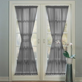 No. 918 Emily Sheer Voile Solid Single Patio Door Curtain Panel