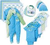 Gerber Transportation 19 Piece Gift Set (Baby) - Blue-Newborn
