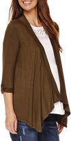 Asstd National Brand Planet Motherhood Maternity Roll-Tab Sharkbite Cardigan