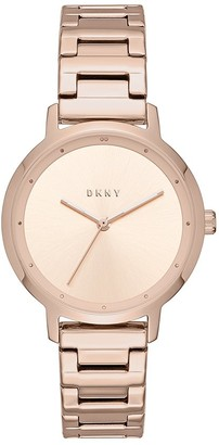 DKNY Women's The Modernist Stainless Steel Analog-Quartz Watch with Leather Calfskin Strap