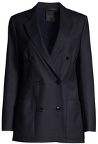 Agnona Wool Flannel Double-Breasted Jacket
