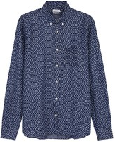 J.lindeberg Dani Navy Floral-print Cotton Shirt