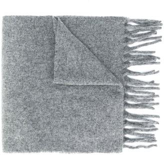 Études Knitted Fringed-Edge Scarf