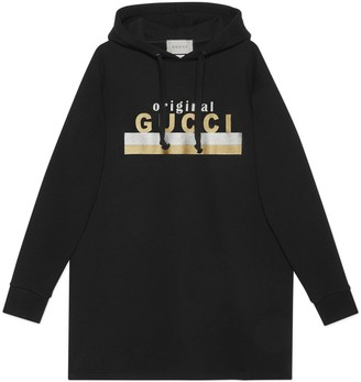 "Gucci ""Original print hooded dress"