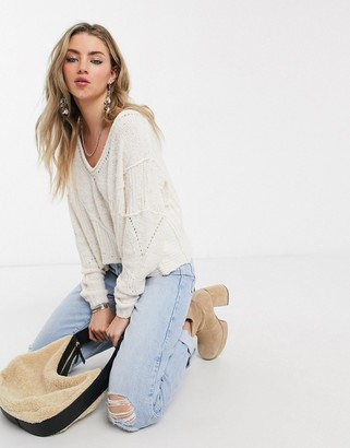 Free People seashell sweater in ivory