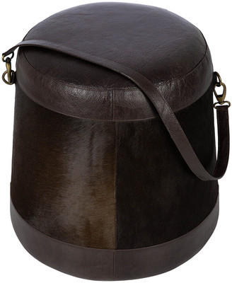 Luxe - Hide Belted Pouf - Brown