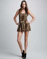 Leopard-Print Ballerina Dress