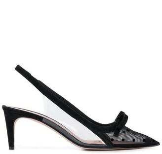 RED Valentino Pointed Toe Slingback Pumps