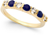 Townsend Victoria Sapphire (3/8 ct. t.w.) and White Topaz (3/8 ct. t.w.) Ring in 18k Gold over Sterling Silver
