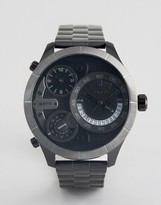 Police Bushmaster Watch With Black Multi Functional Dial