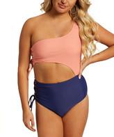 NEW Ella Moss Women/'s Lace Up Cabana Stripe Romper Swim Beach Cover Up Blue $98