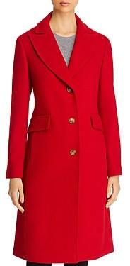 Kate Spade Twill Peaked Lapel Long Coat