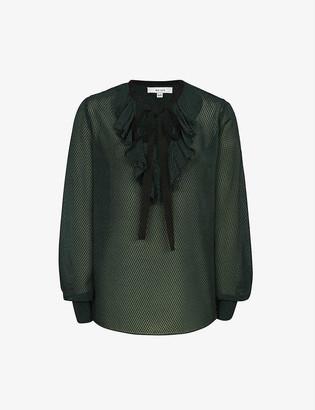 Reiss Mackenzie silk-blend blouse