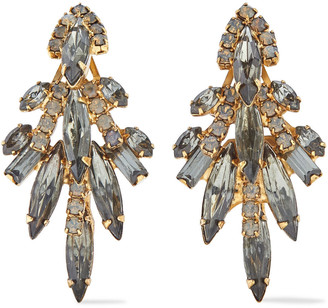 Elizabeth Cole Lil Billie 24-karat Gold-plated Swarovski Crystal Earrings