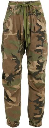 R 13 Camouflage Drop Crotch Cargo Pants