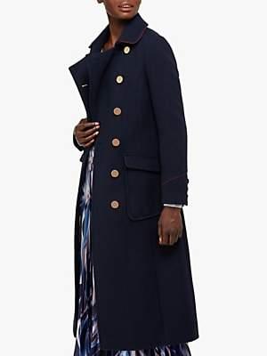 Monsoon Anna Military Coat, Navy
