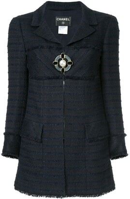 Chanel Pre Owned Brooch Closure Boucle Jacket