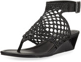 Donald J Pliner Deeba Woven Wedge Sandal, Black