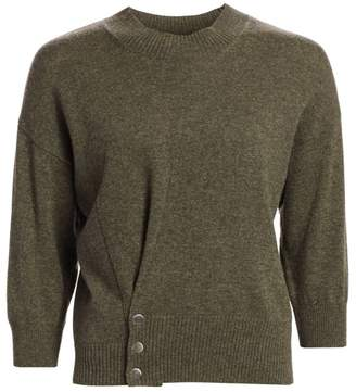 3.1 Phillip Lim Three-Quarter Sleeve Pinch Cashmere Sweater