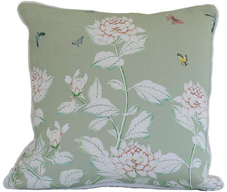 Dawn Wolfe Design Chinoiserie 20x20 Pillow - Green/White Linen