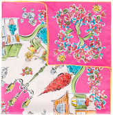 Salvatore Ferragamo village print scarf - women - Silk - One Size