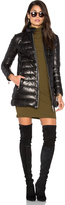 Doma Down Filled Quilted Leather Coat