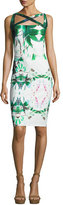 La Petite Robe di Chiara Boni Angela Sleeveless Jersey Sheath Dress, Forest