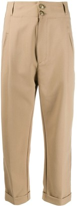Dondup High-Waisted Slim Trousers