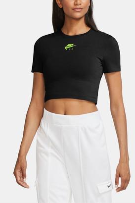 Nike Short Sleeve Cropped Logo Tee
